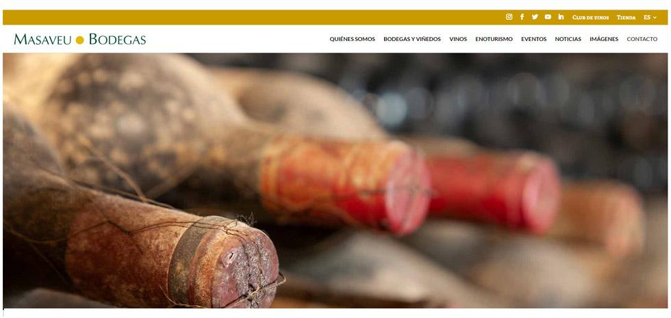Masaveu Bodegas lanza una nueva web